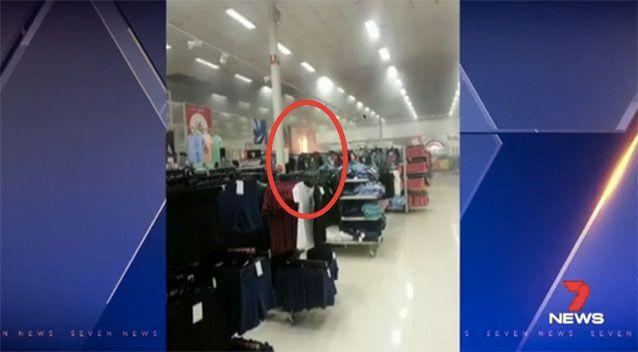 The fire started in the baby clothing section. Source: 7 News