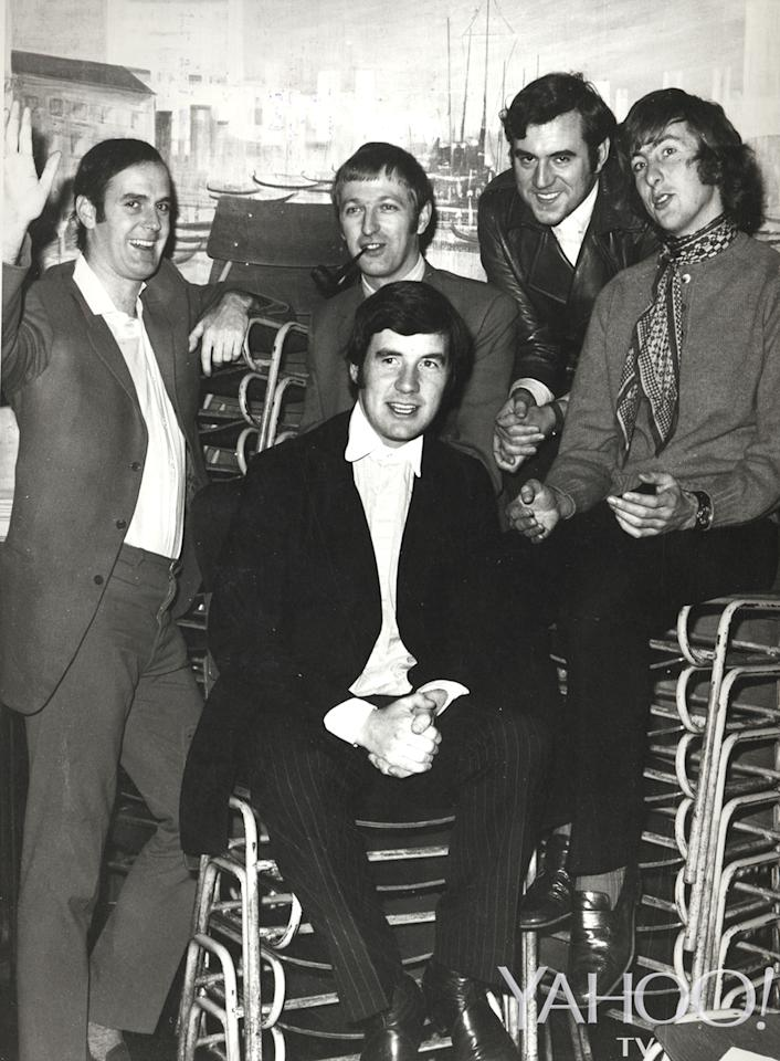 <p>From left, John Cleese, Graham Chapman, Michael Palin, Terry Jones, and Eric Idle, circa 1969 as their <em>Flying Circus</em> was beginning to soar. (Credit: Abrams Books) </p>