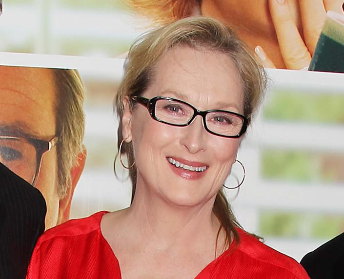 """FILE - This Aug. 6, 2012 file photo originally released by Starpix show actress Meryl Streep at the premiere of the Columbia Pictures film """"Hope Springs,"""" at the SVA Theatre in New York. Streep has donated $1 million to The Public Theater in honor of both its late founder, Joseph Pap, and her friend, the author Nora Ephron. The announcement was timed to Thursday's unveiling of the nonprofit's $40 million face-lift to its 158-year-old headquarters in Astor Place. (AP Photo/Starpix, Dave Allocca)"""