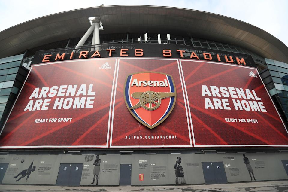 Arsenal will welcome fans back to the stadium for their Europa League clash with Rapid Vienna (PA)