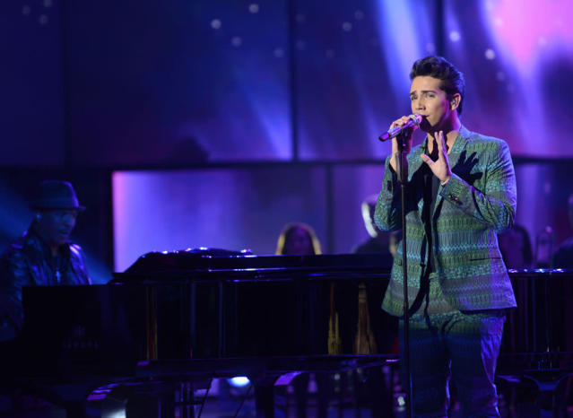 "Lazaro Arbos performs ""(They Long to Be) Close to You"" on the Wednesday, April 10 episode of ""American Idol."""