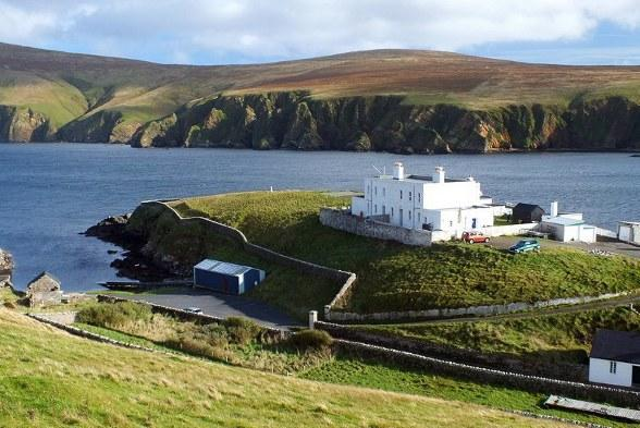 The former lighthouse shore station at Unst.