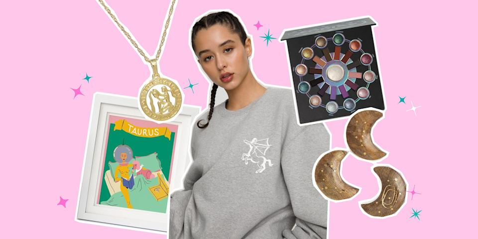 """<p>Finding the perfect gift for a cancer or a taurus or a gemini can be incredibly difficult. Why? Because each zodiac sign comes with their own specific temperaments, desires, and passions. But there's one gift idea that'll get any sign super pumped up and that's a <a href=""""https://www.seventeen.com/life/friends-family/g25991062/personalized-gifts/"""" rel=""""nofollow noopener"""" target=""""_blank"""" data-ylk=""""slk:personalized gift"""" class=""""link rapid-noclick-resp"""">personalized gift</a> inspired by their star chart. </p><p>You can find any and <em>every </em>type of gift–for beauty-lovers, athletes, gamers, fashionistas, and more–emblazoned with the symbols of the stars. If you know where to look, that is. And thankfully, I do! After <a href=""""https://www.seventeen.com/gift-ideas/"""" rel=""""nofollow noopener"""" target=""""_blank"""" data-ylk=""""slk:months of building holiday gift guides"""" class=""""link rapid-noclick-resp"""">months of building holiday gift guides</a> (not kidding), I've got the very best intel on where to find zodiac gifts. You are now invited to shop the coolest, most giftable presents inspired by each astrological sign. </p>"""