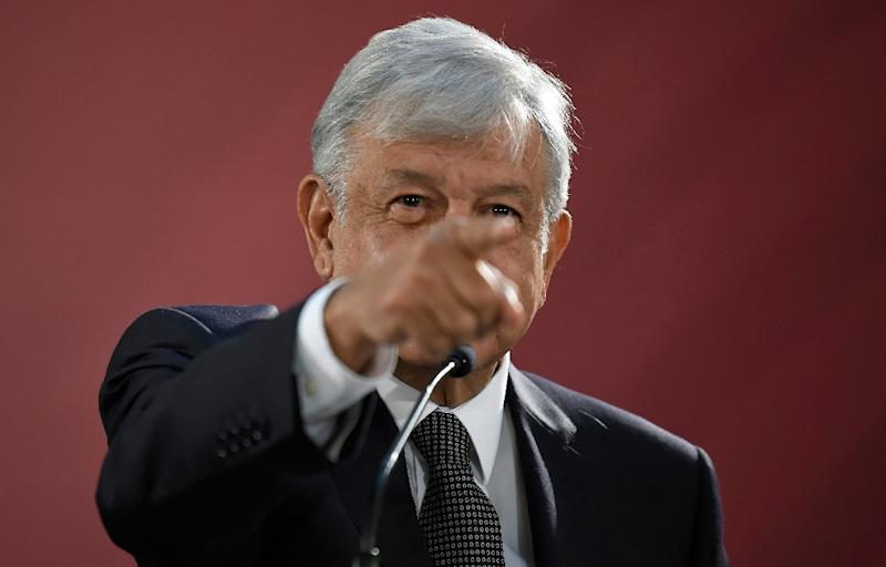 Mexico's President Andres Manuel Lopez Obrador, seen here at his first news conference, says he is asking Congress to eliminate the immunity Mexican presidents have enjoyed under the constitution