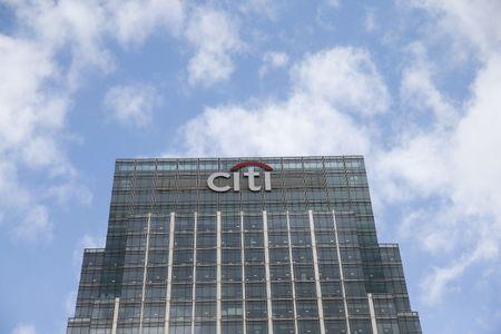 A Citigroup office is seen at Canary Wharf  in London, Britain May 19, 2015.  REUTERS/Suzanne Plunkett