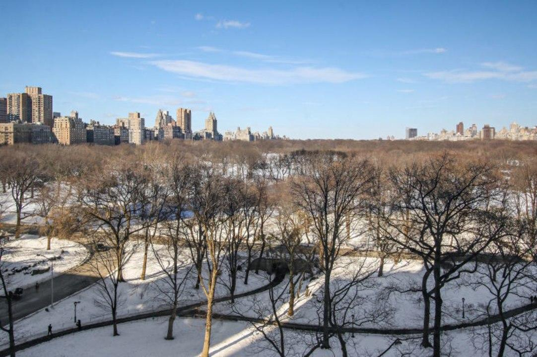 The apartment, which is located on Central Park South, has sweeping views of the urban green space.