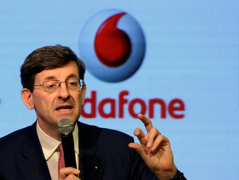 Vodafone Group CEO Vittorio Colao speaks during a news conference in Mumbai on March 20, 2017