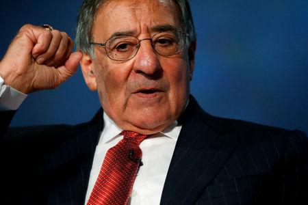 FILE PHOTO: Former U.S. Secretary of Defense Leon Panetta discusses his new book 'Worthy Fights' at George Washington University in Washington, U.S., October 14, 2014. REUTERS/Jonathan Ernst/File Photo