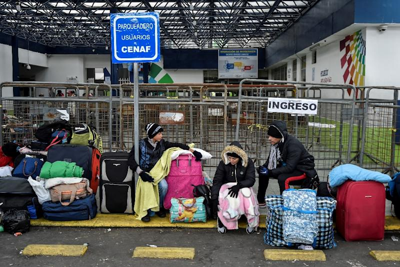 """The UN says that some 1.6 million Venezuelans have left their country since 2015, like the ones pictured August 2018, and has asked Caracas to """"accept humanitarian assitance"""" to address the ongoing crisis"""