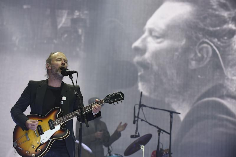 Thom Yorke of British rock band Radiohead. The group will release weekly concert footage from archival performances on their YouTube channel.