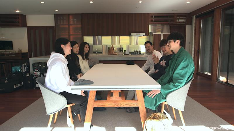 Tsubasa Sato (front left) and Shion Okamoto with the cast of Terrace House: Opening New Doors   1
