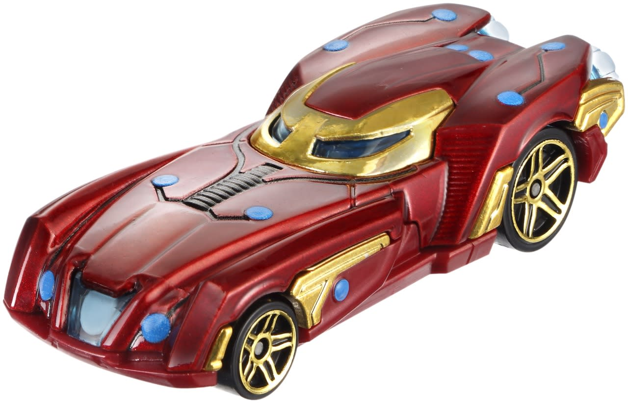 <p>While the Cap car is way retro, Iron Man's vehicle screams state-of-the-art, all repulsored out and sleek enough that it's easy to picture Tony Stark behind the wheel of the arc reactor-powered machine. The look is based on the Mark 46 armor he sports in <i>Civil War</i>. </p>