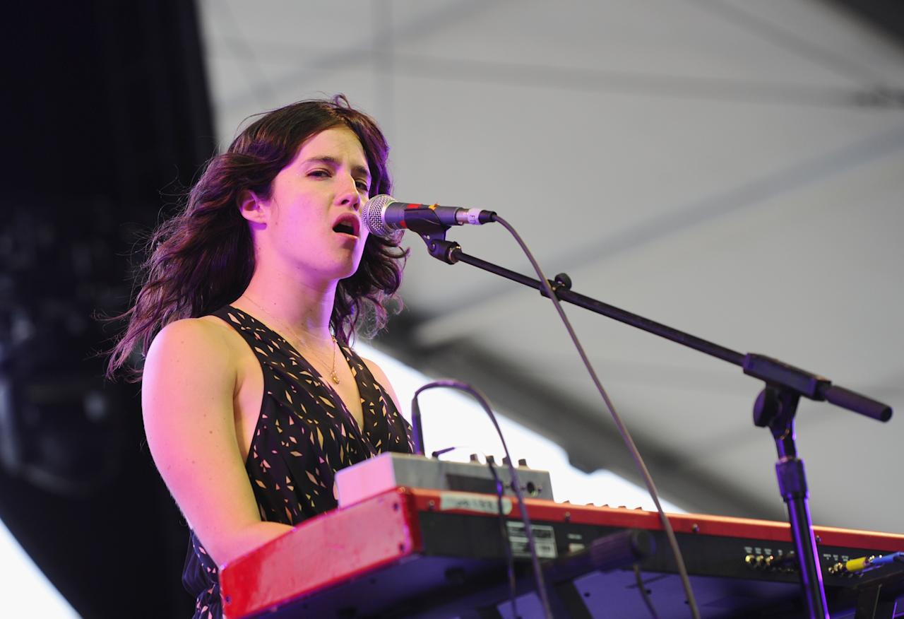 INDIO, CA - APRIL 13:  Singer Ximena Sarinana performs onstage at the 2012 Coachella Valley Music & Arts Festival held at The Empire Polo Field on April 13, 2012 in Indio, California.  (Photo by Michael Buckner/Getty Images for Coachella)