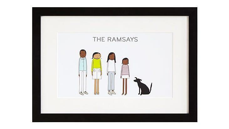 Best Mother's Day gifts: Personalized Family Print