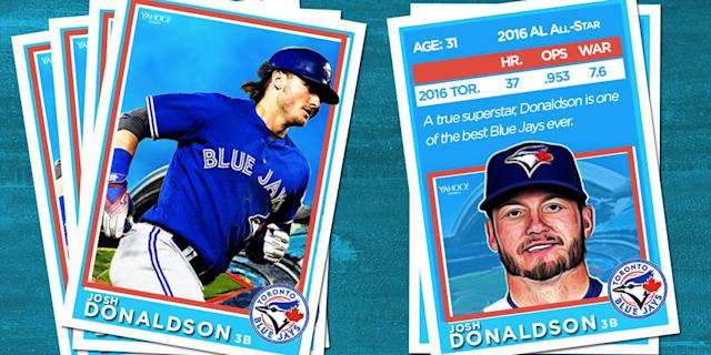 <p>Opening Day is upon us, and it's time to meet your 2017 Blue Jays. Get to know the club with our baseball card series. <br>First on deck, it's the bringer of rain. </p>