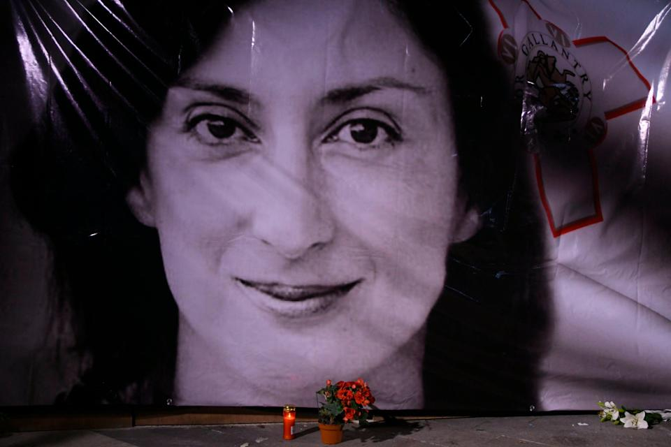 Malta Journalist Slain (Copyright 2021 The Associated Press. All rights reserved.)