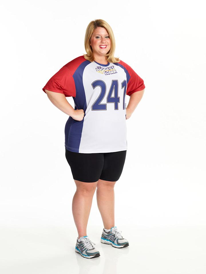"Chelsea Arthurs competes on NBC's ""The Biggest Loser"" Season 15."