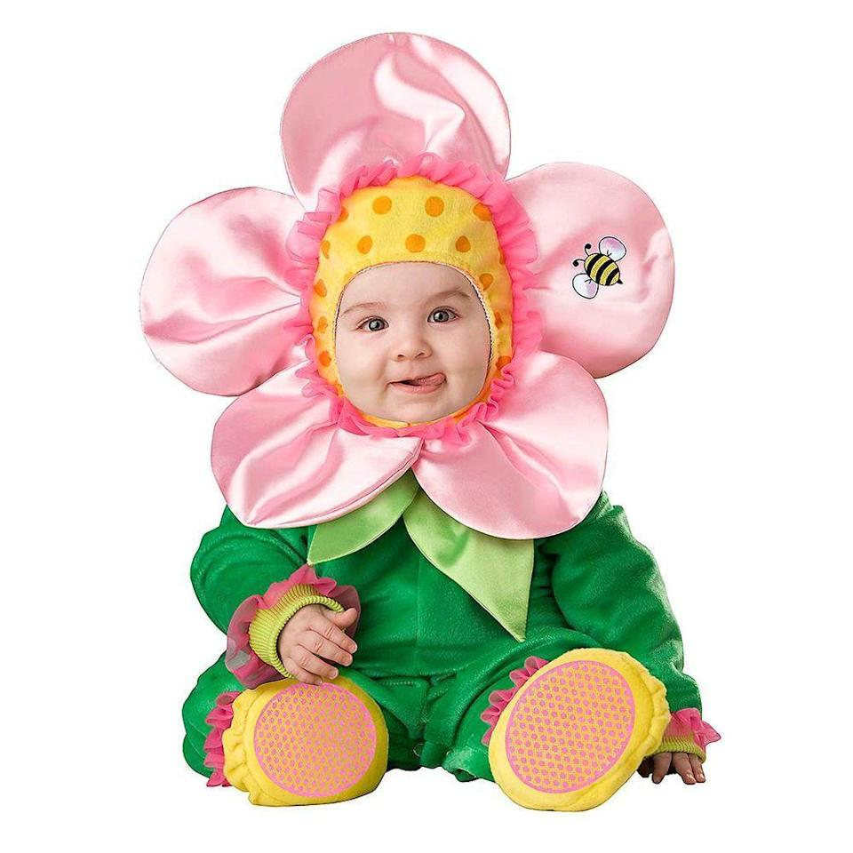 """<p><strong>BOS</strong></p><p>amazon.com</p><p><strong>$24.99</strong></p><p><a href=""""https://www.amazon.com/Baby-Blossom-Flower-Costume-Size/dp/B01LDMYA3Q/ref=sr_1_1?dchild=1&keywords=baby+blossom+flower+costume&qid=1629207381&sr=8-1&tag=syn-yahoo-20&ascsubtag=%5Bartid%7C2089.g.1709%5Bsrc%7Cyahoo-us"""" rel=""""nofollow noopener"""" target=""""_blank"""" data-ylk=""""slk:Shop Now"""" class=""""link rapid-noclick-resp"""">Shop Now</a></p><p>Your little sunshine will look sweet as ever in this presh flower costume. Use a cute watering can to hold candy (for yourself!), and you have a costume that might score you a win in your local Halloween parade.<br></p>"""