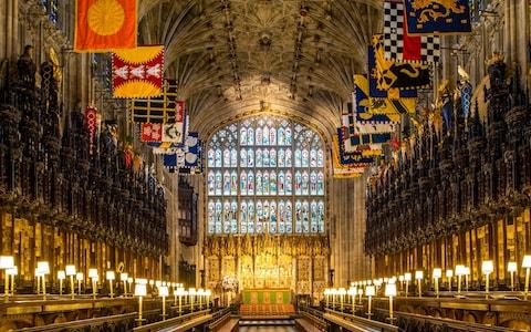 A view of the Quire in St George's Chapel at Windsor Castle, where Prince Harry and Meghan Markle will have their wedding service - Credit:  WPA Pool