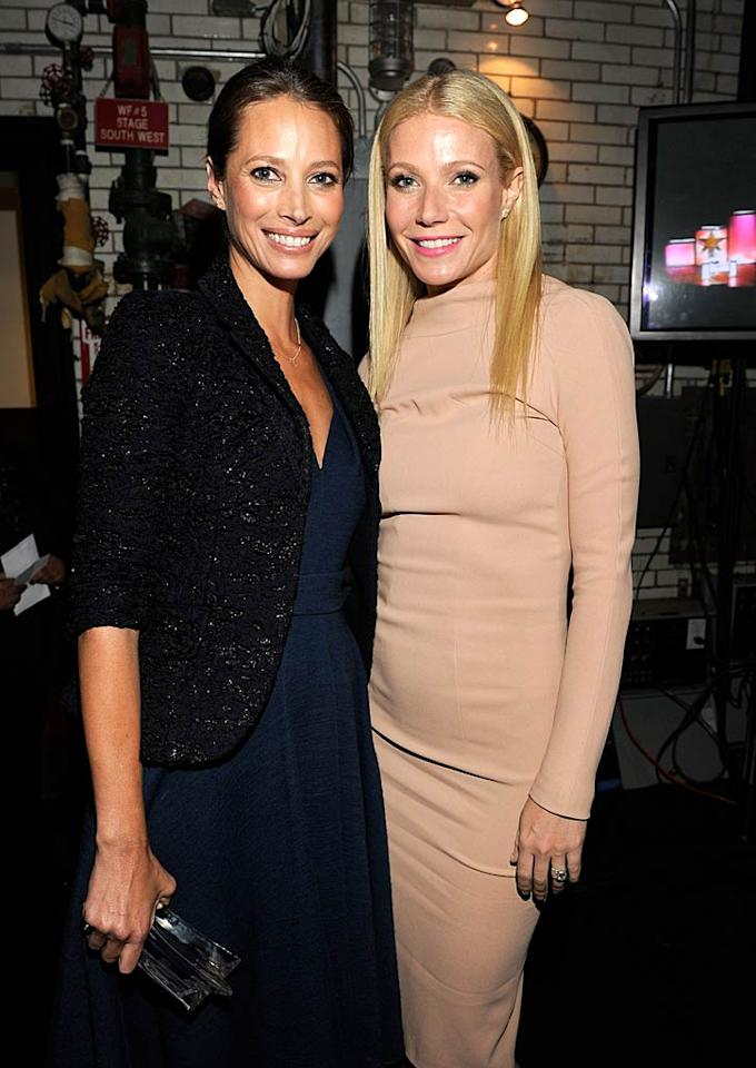 "Gwyneth Paltrow, who seems to be everywhere these days, presented the inaugural Advocate Award to her friend Christy Turlington Burns. The model mom of Grace, 7, and Finn, 5, works with her charity, Every Mother Counts, to improve maternal health and reduce maternal mortality rates around the world. Kevin Mazur/<a href=""http://www.wireimage.com"" target=""new"">WireImage.com</a> - April 12, 2011"