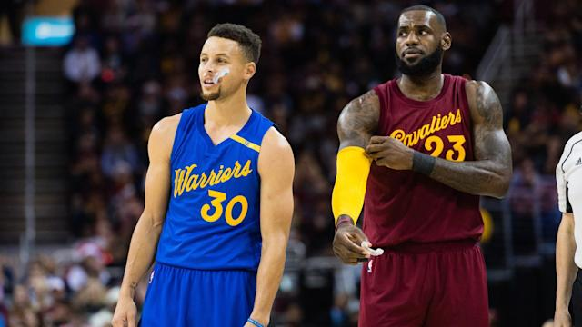 Stephen Curry and LeBron James picked teams for next month's NBA All-Star Game. (Getty)