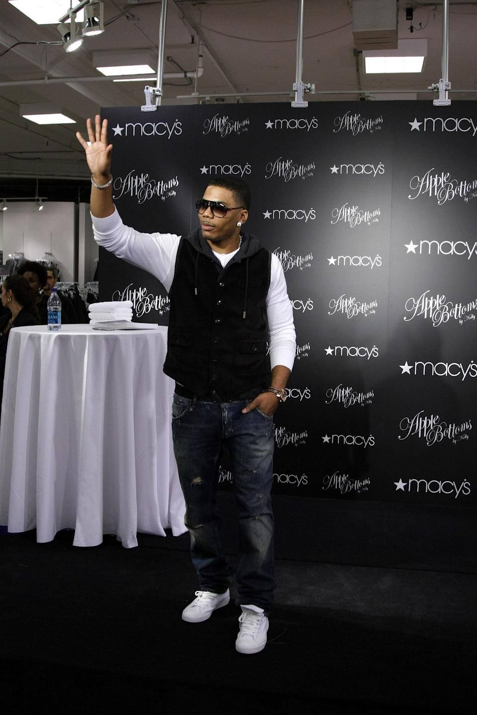 """<em>Shawty had them apple bottom jeans (jeans), boots with the fur (with the fur)</em>! Rapper Nelly launched his denim line, Apple Bottom Jeans, in 2003 and the collection went on to expand into ready-to-wear and accessories. (It was <a href=""""https://www.gq.com.au/entertainment/music/nellys-apple-bottom-jeans-are-set-for-the-comeback-you-didnt-know-you-wanted/news-story/a5ae022738747f183faf954c34c51462"""" rel=""""nofollow noopener"""" target=""""_blank"""" data-ylk=""""slk:even"""" class=""""link rapid-noclick-resp"""">even</a> 2006's sixth-most-Googled denim brand on the planet). While the line eventually folded, Nelly recently <a href=""""https://www.instagram.com/p/B9dFAoUJavj/?utm_source=ig_embed&ig_rid=d3b96923-c0e1-4cb2-a633-96691951c288"""" rel=""""nofollow noopener"""" target=""""_blank"""" data-ylk=""""slk:teased a comeback"""" class=""""link rapid-noclick-resp"""">teased a comeback</a>, though it has yet to come to fruition."""