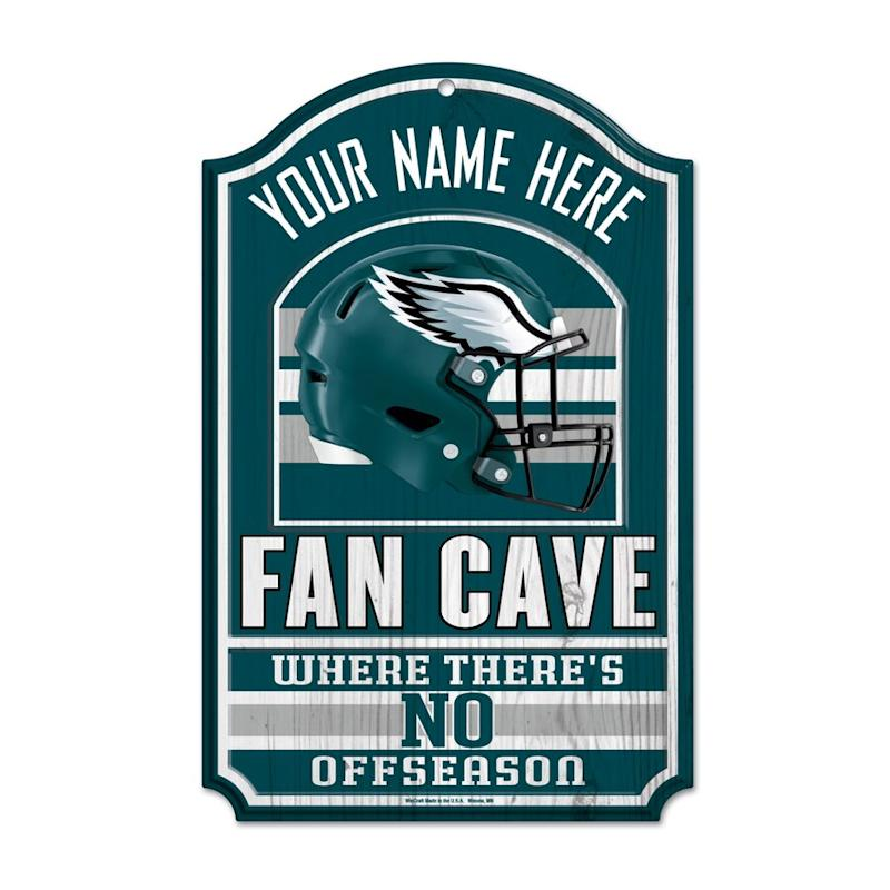 Eagles Personalized Fan Cave Wood Sign