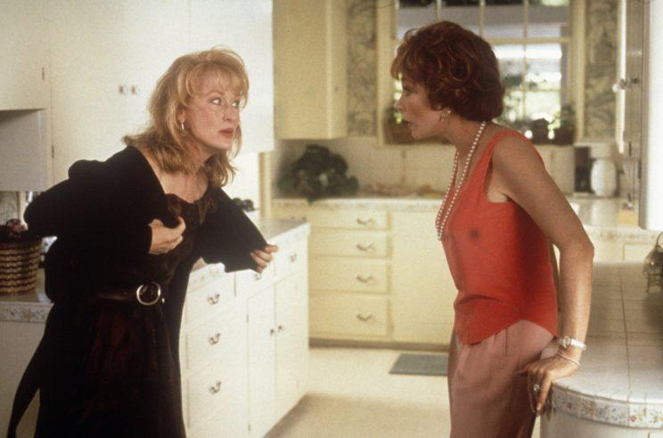 Meryl Streep and Shirley MacLaine in Postcards from the Edge, 1990. Photo: Getty Images