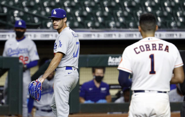 New rules would allow the commissioner (and not angry pitchers) to punish players for stealing signs, something Astros players avoided this winter after an investigation uncovered their season-long sign-stealing scheme from 2017. (Photo by Bob Levey/Getty Images)