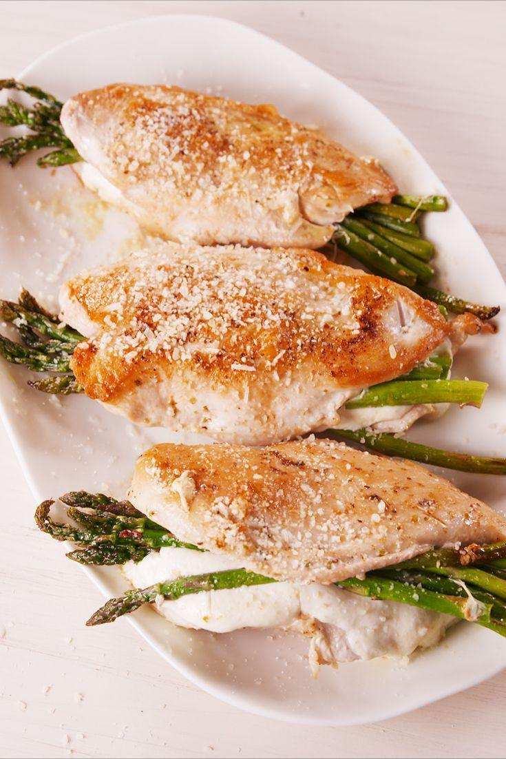 """<p>Eat wholesome & feel wholesome with this on your dinner plate.</p><p>Get the recipe from <a href=""""https://www.delish.com/cooking/a19567127/asparagus-stuffed-chicken-recipe/"""" rel=""""nofollow noopener"""" target=""""_blank"""" data-ylk=""""slk:Delish"""" class=""""link rapid-noclick-resp"""">Delish</a>. </p>"""