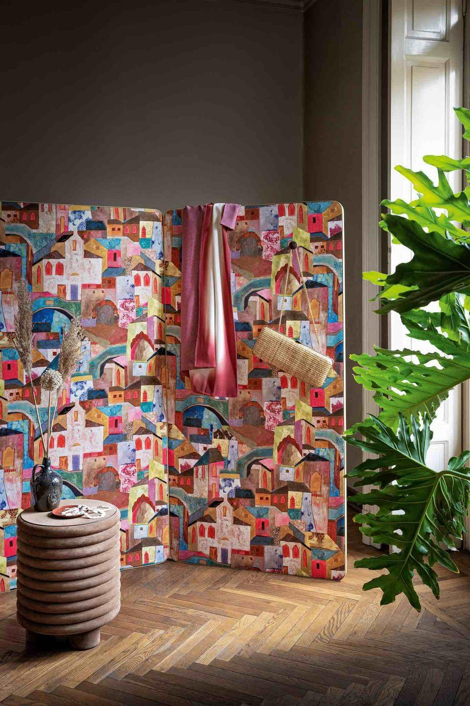 """<p>Introduce a loud pattern on a screen in an otherwise neutrally decorated room. Team with upholstery in the more subtle tones found in the pattern to maintain a level of sophistication. 'Burano' fabric, £113 per metre, <a href=""""http://www.rubelli.com/en/products/textiles/burano-30411.html"""" rel=""""nofollow noopener"""" target=""""_blank"""" data-ylk=""""slk:rubelli.com"""" class=""""link rapid-noclick-resp"""">rubelli.com</a></p>"""