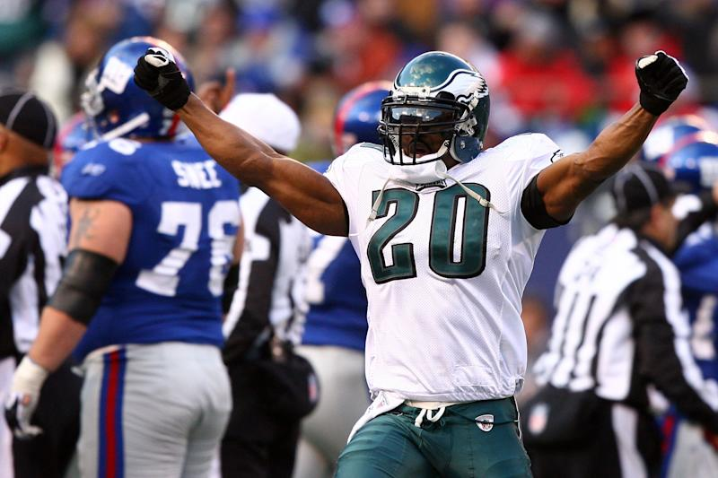 Brian Dawkins will formally be enshrined into the Pro Football Hall of Fame in Canton Ohio this weekend. (Getty Images)