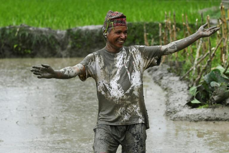 The celebrations include splashing mud and drinking local rice beer