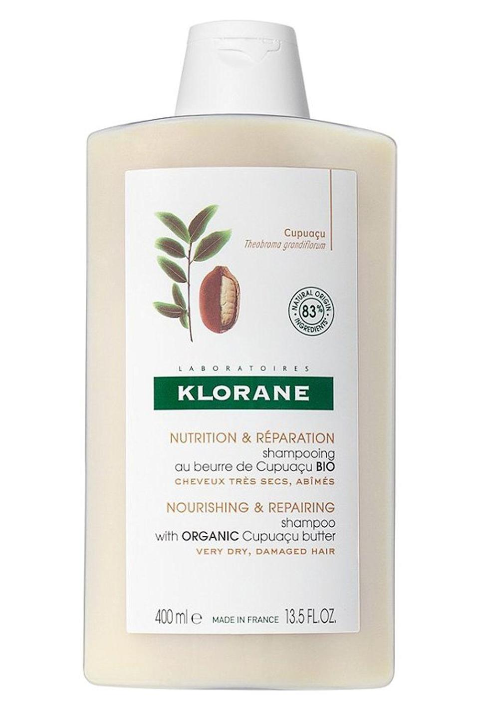 "<p><strong>Klorane</strong></p><p>ulta.com</p><p><strong>$20.00</strong></p><p><a href=""https://go.redirectingat.com?id=74968X1596630&url=https%3A%2F%2Fwww.ulta.com%2Fnourishing-repairing-shampoo-with-cupuacu-butter%3FproductId%3Dpimprod2015310&sref=https%3A%2F%2Fwww.cosmopolitan.com%2Fstyle-beauty%2Fbeauty%2Fg22740377%2Forganic-shampoo%2F"" rel=""nofollow noopener"" target=""_blank"" data-ylk=""slk:Shop Now"" class=""link rapid-noclick-resp"">Shop Now</a></p><p>If your hair feels like freaking straw, this organic shampoo for <a href=""https://www.cosmopolitan.com/style-beauty/beauty/a29873251/how-to-fix-dry-hair-tips/"" rel=""nofollow noopener"" target=""_blank"" data-ylk=""slk:dry hair"" class=""link rapid-noclick-resp"">dry hair</a> is about to be your new go-to on wash day. Suds up with the rich and creamy formula—it <strong>contains moisturizing and nourishing cupuacu butter</strong>—to transform your frizzy, dry-as-hell strands into head of super soft hair.</p>"