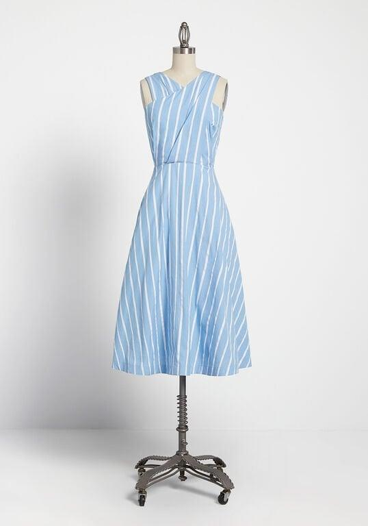 <p>Hurry, this <span>The More the Mariner Striped Midi Dress</span> ($149) is selling out fast!</p>