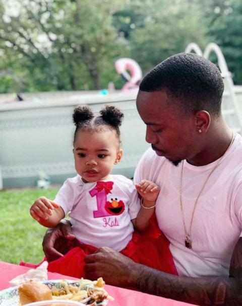 PHOTO: Jahmani Kinch, pictured with his daughter Kali, said that part of the problem he has faced is that the fines he has to pay are so large, and come second to other spending priorities which include co-parenting his daughter and his college tuition. (Courtesy Jahmani Kinch)