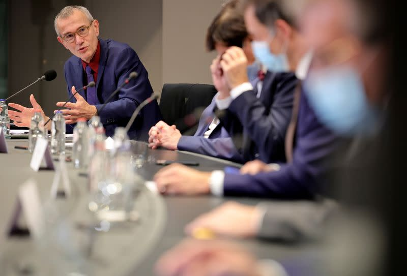 News conference after government meeting on the coronavirus disease (COVID-19) in Brussels