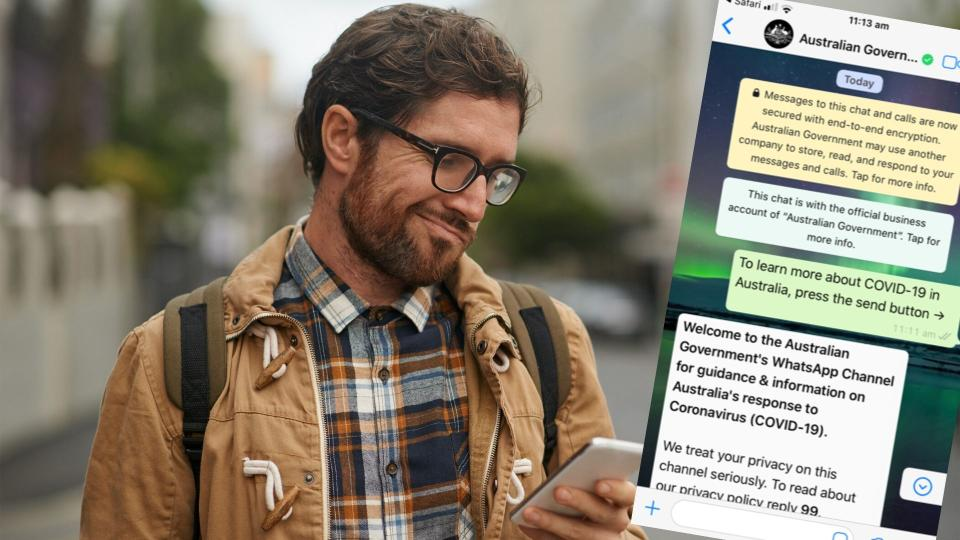 Pictured: Confused man, official coronavirus government WhatsApp chat.