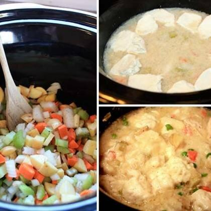 """<p>Just because you're going on a trip doesn't mean you have to give up home cooking. This slow cooker chicken and dumplings recipe is perfect for trips—all you need is a crock pot and somewhere to put it. It's simple, but easy to modify, so you're free to add or remove ingredients to suit your tastes</p> <p><a href=""""https://www.myrecipes.com/recipe/easy-slow-cooker-chicken-dumplings"""">Easy Slow Cooker Chicken &amp; Dumplings Recipe</a></p>"""