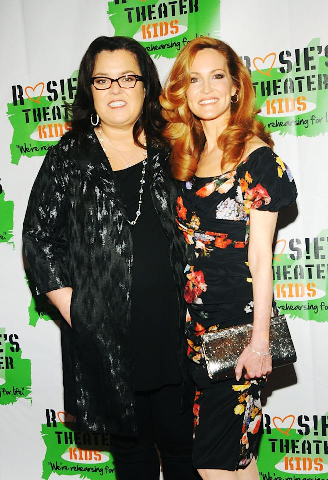 NEW YORK, NY - OCTOBER 15: Actress/Comedian Rosie O'Donnell and (R) Michelle Rounds attend the 2012 Building Dreams For Kids Gala at The New York Marriott Marquis on October 15, 2012 in New York City.  (Photo by Desiree Navarro/WireImage)