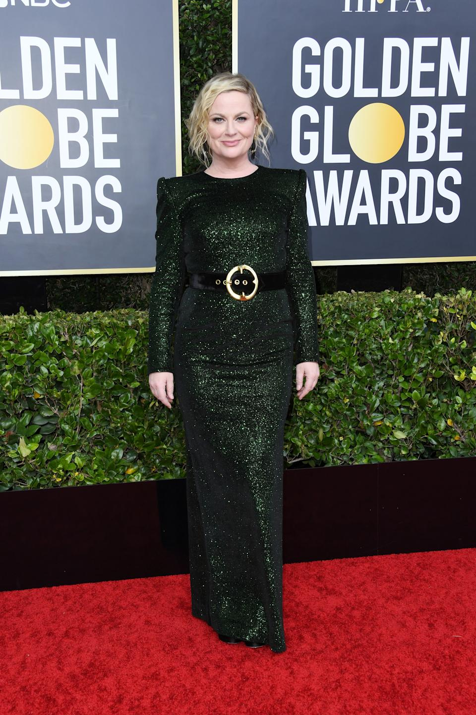 "<h1 class=""title"">Amy Poehler in Sergio Hudson</h1><cite class=""credit"">Photo: Getty Images</cite>"