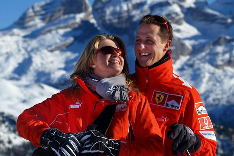 Michael Schumacher and his wife Corinna in 2005: EPA