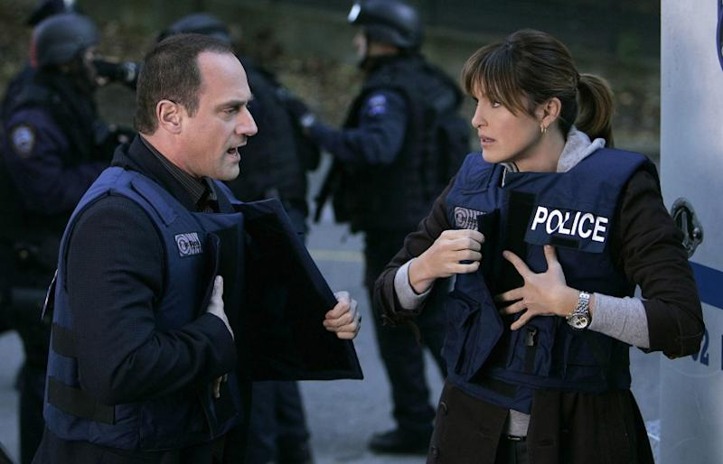 LAW & ORDER: SPECIAL VICTIMS UNIT Christopher Meloni and Mariska Hargitay