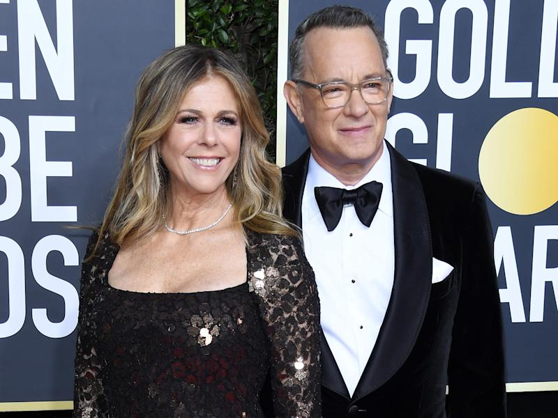 tom hanks Rita Wilson golden globes