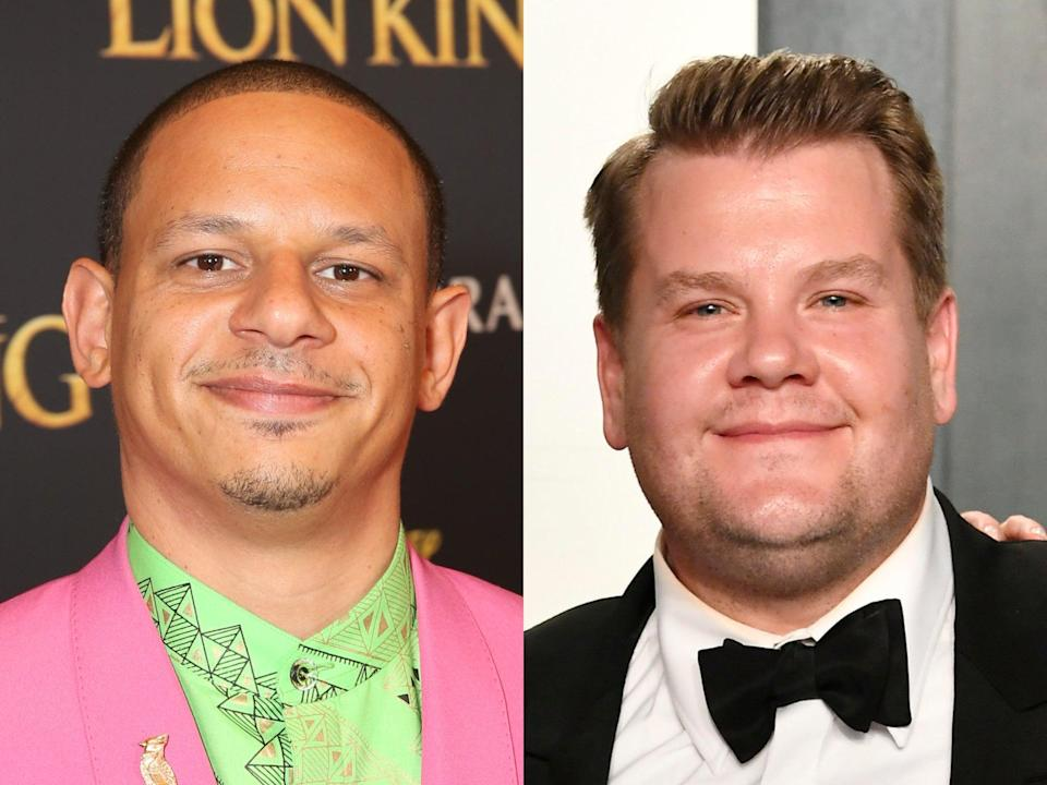 Eric Andre (left) and James Corden (right) (Getty)