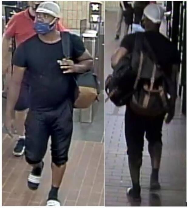 Toronto police have released a photograph of a suspect in an aggravated assault case that occurred on June 17, 2021 at the Yonge and Carlton Shopper's Drug Mart. (Toronto Police Service - image credit)