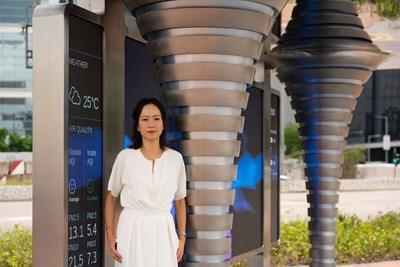 'A smart city solution must aesthetically fit in with its urban surroundings. We are pleased with how we managed to incorporate all the technological innovations in a modern and sleek design,' adds Charis Ng, designer of CAPS 2.0.