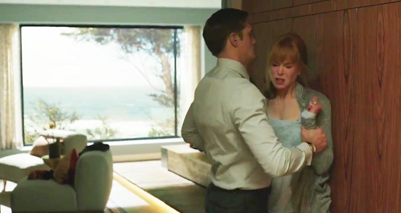 Nicole Kidman in character as Celeste with her on-screen husband Perry, played by Alexander Skarsgård