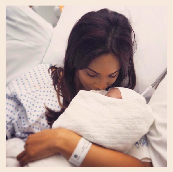 Rochelle Humes has divided the Internet with her new baby keepsake [Photo: Instagram/rochellehumes]