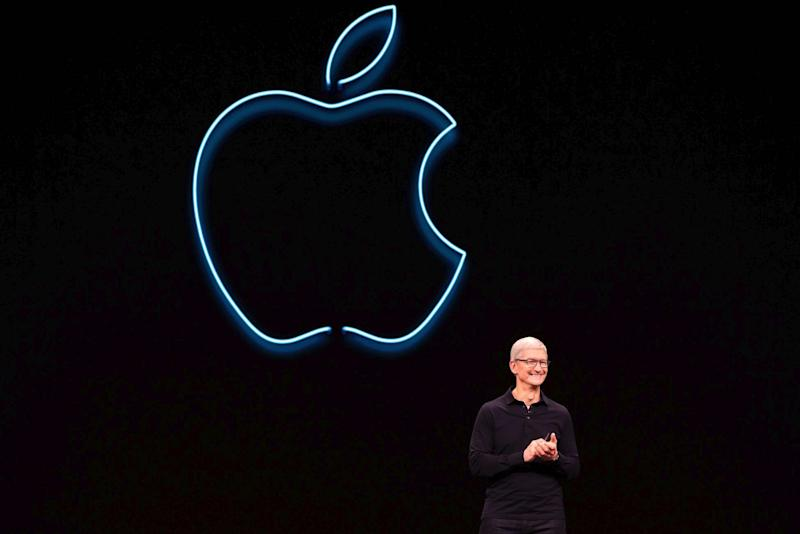 Apple CEO Tim Cook presents the keynote address during Apple's Worldwide Developer Conference (WWDC) in San Jose, California on June 3, 2019: BRITTANY HOSEA-SMALL/AFP/Getty Images